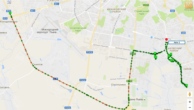 WEB сервер GPS-Tracker